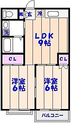 千葉県船橋市夏見4丁目の賃貸アパートの間取り
