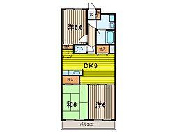 ビエラコート武蔵浦和[1階]の間取り