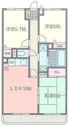 成瀬マンション[105号室]の間取り