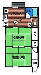 コーポツインハウス・B[101号室]の間取り