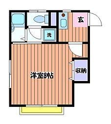 東京都日野市日野台5丁目の賃貸アパートの間取り
