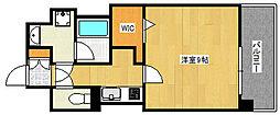 Cherir六甲道 5階1Kの間取り