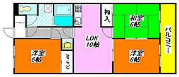 サングリーン・布施 401号室[4階]の間取り