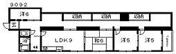センターヴィレッジ[401号室号室]の間取り