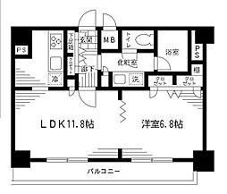 エスコート西新宿[11階]の間取り