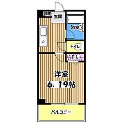 東京都八王子市みなみ野4丁目の賃貸マンションの間取り