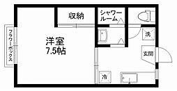 ハウスアルバ[1階]の間取り