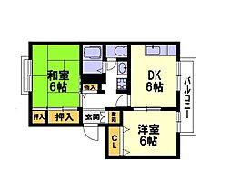 西鴻ノ池ハイツ[1階]の間取り