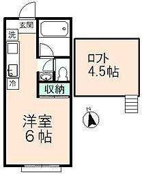 東中野ハイツ[F号室]の間取り