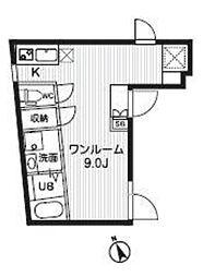 GRAND LIFE 地下3階ワンルームの間取り
