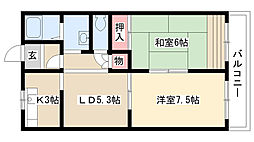 愛知県名古屋市瑞穂区大殿町4丁目の賃貸マンションの間取り