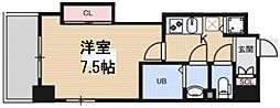 Luxe花園 11階1Kの間取り