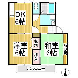 サンガーデン丹波島 南館[2階]の間取り