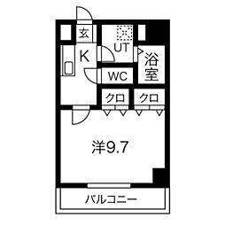 愛知県名古屋市北区杉栄町5丁目の賃貸マンションの間取り
