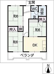 愛知県名古屋市昭和区川原通4丁目の賃貸マンションの間取り