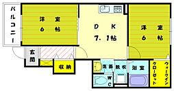 プルニエ3[1階]の間取り