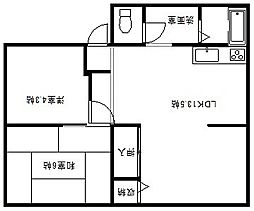 兵庫県豊岡市九日市上町の賃貸アパートの間取り