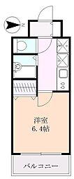 行川マンション[402号室]の間取り