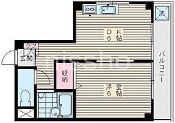 東京都練馬区中村2丁目の賃貸マンションの間取り