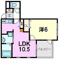 ラ・マレア[3階]の間取り