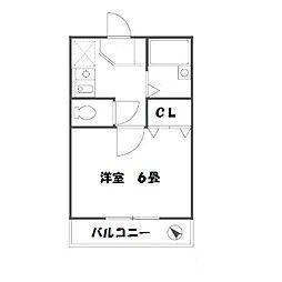 東京都町田市森野1丁目の賃貸アパートの間取り