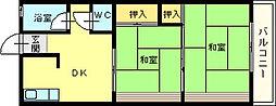 西喜ハイツ[405号室]の間取り