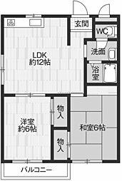 松風ファミールII[2階]の間取り
