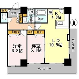 カスタリアタワー長堀橋[0306号室]の間取り