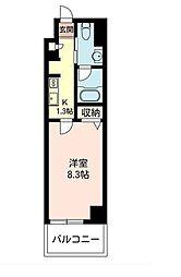 東京都世田谷区下馬3丁目の賃貸マンションの間取り
