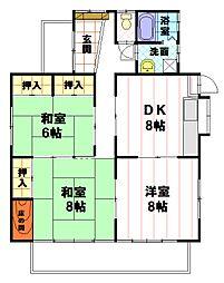 [一戸建] 長野県長野市大字高田川端 の賃貸【/】の間取り