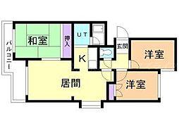 ラフォーレ壱番館[5階]の間取り