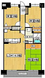 グランドパレス新宮[7階]の間取り