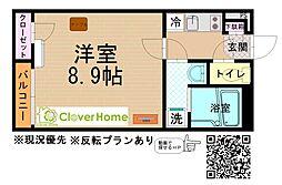 JR相模線 相武台下駅 徒歩11分の賃貸アパート 2階1Kの間取り