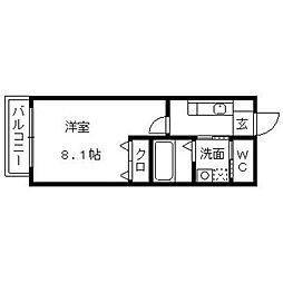 ティーガー新和町[104号室]の間取り