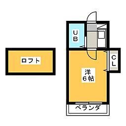 ボナール日比野[2階]の間取り