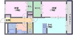 エスポワールシンコー[2階]の間取り
