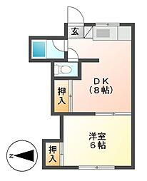 神奈川県川崎市高津区下作延3丁目の賃貸アパートの間取り