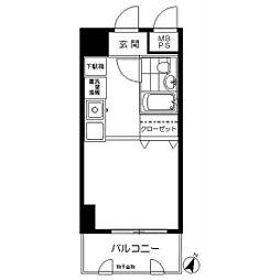 モナークマンション川崎[0403号室]の間取り