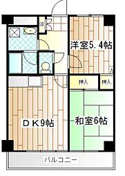 コンフォートソシアK[6階]の間取り