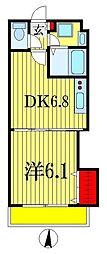 千葉県船橋市南本町2丁目の賃貸マンションの間取り