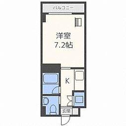 メープル北円山[4階]の間取り