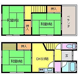 [テラスハウス] 大阪府茨木市水尾4丁目 の賃貸【大阪府 / 茨木市】の間取り