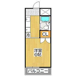 レオ倉高[410号室]の間取り