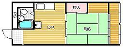 茨木ビル[6階]の間取り
