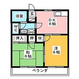 第2ロイヤル大嶋[1階]の間取り