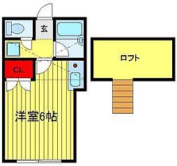 コーポ逆井[206号室]の間取り