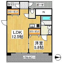 すかる通東[6階]の間取り