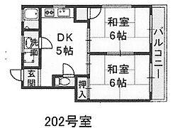 リビーナ山田[202号室]の間取り