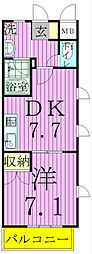 埼玉県三郷市中央3丁目の賃貸マンションの間取り