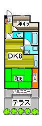 クレスト南浦和弐番館[1階]の間取り